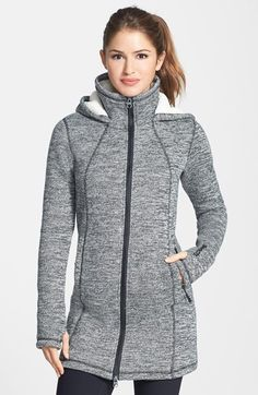Thin Cool Weather Jacket Bench+'Bradie+II'+Stand+Collar+Hooded+Knit+Jacket+available+at+ Coats For Women, Jackets For Women, Clothes For Women, Fashion Pants, Fashion Outfits, Cute Outfits With Leggings, Nordstrom Jackets, Mode Mantel, Knit Jacket