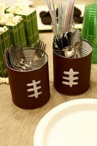 football can decorations, perfect for silverwear