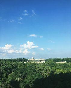 Hot and humid Virginia sky.