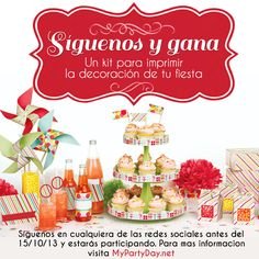Ideas Geniales, October 15, For Your Party, Social Networks, Printables, Free, Table Decorations, Win, Facebook