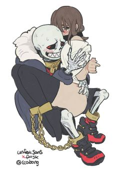 """((OPEN!!!! BE UNDERFELL SANS!!!!!)) He tied me up so I couldn't moved, I yelled at underfell Sans""""You're not my Sans, he'd never do this to-mm!"""" He placed tape over my mouth """"heh, then your Sans is crazy.... not having his way with you."""" He slitherred his hand up my thigh, I whimpered, Sans grin widened """"oh i'm gonna have fun with you.~"""" He growled"""