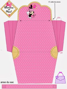 Minnie in Pink: Free Printable Paper Purse.