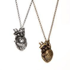 Pewter Anatomical Heart Pendant