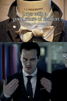 """I had a chuckle when Moriarty brushed his shoulders off and said """"Westwood"""" and wondered how many got the fashion reference."""