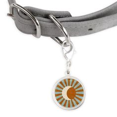 Sun And Moon small round Pet Tag from cafepress store: AG Painted Brush T-Shirts. #pet #sun #moon