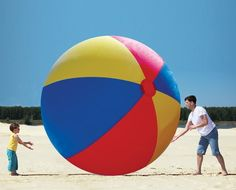 Make an impact on the beach with this Giant Inflatable Beach Ball! Available To Buy Now From Prezzybox at Giant Inflatable Beach Ball In Stock With Fast, UK Delivery. Image Ballon, Giant Inflatable, Beach Gear, Beach Toys, Beach Ball, White Elephant Gifts, Elephant Party, Elephant Game, Outdoor Fun