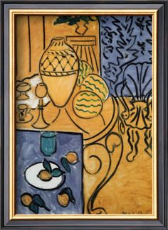 Interior in Yellow and Blue, 1946 Prints by Henri Matisse at AllPosters.com