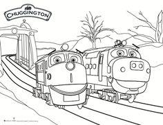 chuggington snow rescue coloring page - Chuggington Wilson Coloring Pages