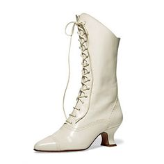 Mrs. Kendal seems like a positive being to me. I envision her wearing bright colours which is why I picked out these white boots for her. They would go well with most of her dresses.