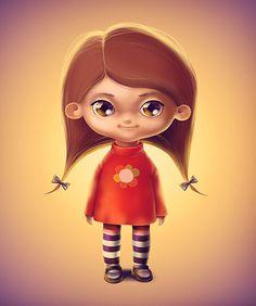 Little girl by Diana Dementieva, via Behance