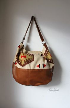 KIlim tapestry blanket woven turkish leather by SweetSmokebags, $120.00