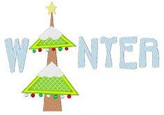 Winter Applique - 2 Sizes! | Winter | Machine Embroidery Designs | SWAKembroidery.com Stitch-Ville