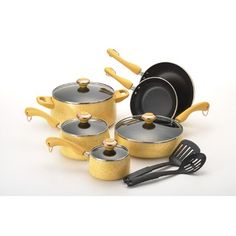 Paula Deen Porcelain Enamel Heavy Gauge 12-Piece Cookware Set must get this for christmas!