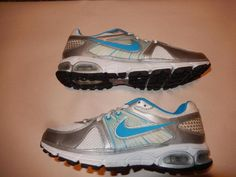 978a708690c5 Women s Size 8.5 Nike + Air Max Moto 9 Blue White Running Shoes 454070-