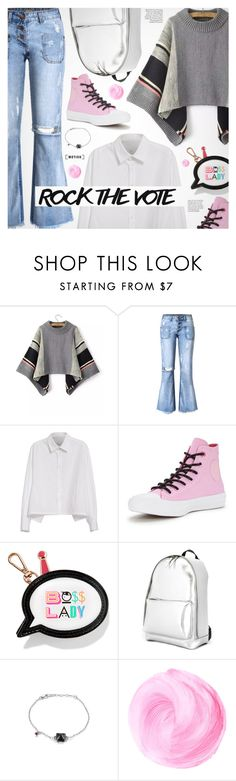 """""""Rock the Vote"""" by metisu-fashion ❤ liked on Polyvore featuring Y's by Yohji Yamamoto, Converse, Sophia Webster and 3.1 Phillip Lim"""