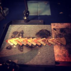 Copper and brass cuff ready for soldering together . #handmade...