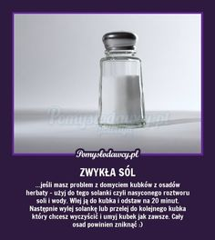 SUPER TRIK NA POZBYCIE SIĘ OSADÓW PO HERBACIE Z KUBKÓW Diy Cleaners, Good Advice, Home Remedies, Health And Beauty, Diy And Crafts, Life Hacks, Household, Projects To Try, Cleaning
