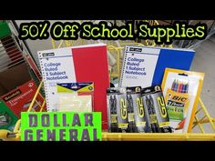 Christa Coupons - YouTube Dollar General Digital Coupons, Dollar General Store, School Supplies, Youtube, School Stuff, Classroom Supplies, Youtubers, School Essentials, Youtube Movies