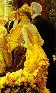 So much love for the way James Tissot captured fashion