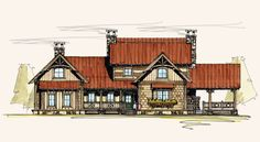 Love the Moss Creek floorplans.  This one looks like a homestead added onto over the years.  I like it.