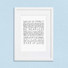 Nova and Me Words to Live By A4 Print – And so to Shop Trust Your Instincts, Staying Up Late, How To Make Tea, How To Wake Up Early, New Home Gifts, Forgiveness, Gifts For Women, A4, Nova
