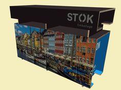 Balie gemaakt van# Karton. 120x60x100 cm. Te bedrukken in elk gewenst motief. Maat op wens aan te passen. Alles kan van #Karton Karton Design, Desktop Screenshot, Doors, Wrapping, Everything, Gate