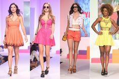 CUT OUTS: Os recortes reveladores e estilosos também são outra tendência forte da temporada, acrescentando toque diferenciado dos vestidos aos bodies