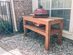 DIY table for your ceramic BBQ cooker.