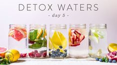 5 DETOX WATERS for Weight Loss, Beauty, & Health 🐝 DAY 5 - YouTube