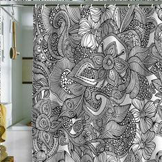 "Valentina Ramos ""Doodles"" Shower Curtain"
