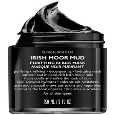 Peter Thomas Roth Irish Moor Mud Mask 5 oz (148 ml) (€52) ❤ liked on Polyvore featuring beauty products, skincare, face care, face masks, beauty, fillers, makeup, accessories, fillers - black and peter thomas roth mask