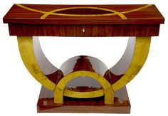 Marquetry Inlay Console Table Art Deco Furniture www.canonburyantiques.com by canonburyantiques, via Flickr