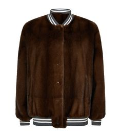 Brunello Cucinelli Reversible Mink and Leather Bomber Jacket available to buy at Harrods.Shop clothing online and earn Rewards points. Piel Natural, Brunello Cucinelli, Harrods, New Trends, Mink, Supermodels, Fur Coat, Chic, Bomber Jacket