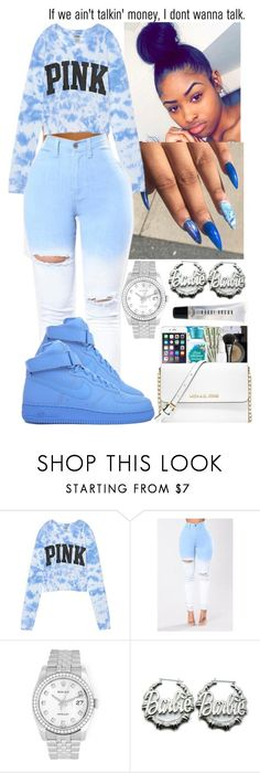 """"" by flawlessgirlty ❤ liked on Polyvore featuring Victoria's Secret, NIKE, Rolex, Nicki Minaj, AG Adriano Goldschmied and Bobbi Brown Cosmetics #fashionsecretstips"
