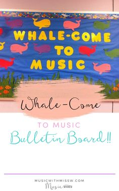 I can't believe it's already time to go back to school. I was looking for an easy and fun way to welcome my students back and this is what I came up with! Welcome Bulletin Boards, Music Bulletin Boards, Back To School Bulletin Boards, Welcome Back To School, Going Back To School, Doors Music, General Music Classroom, Beginning Of The School Year, Elementary Music