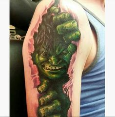 Incredible Hulk Tattoo Incredible Hulk Tattoo
