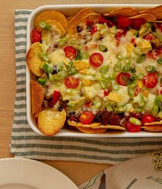 Nachos, Vegetable Pizza, Guacamole, Quiche, Food And Drink, Vegetables, Breakfast, Diy, Morning Coffee