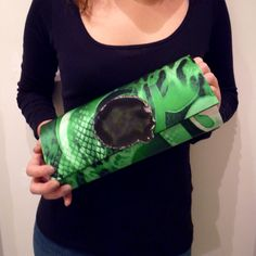 Green Agate Clutch Bag