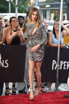 In Saint Laurent at the Paper Towns premiere in New York City.   - ELLE.com