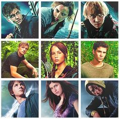 Percy Jackson,Harry potter,and hunger games fans
