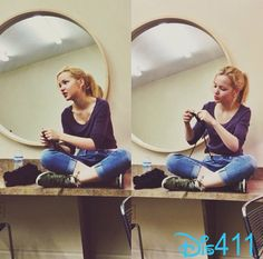 Photo: Dove Cameron Doing Some Knitting December 13, 2013