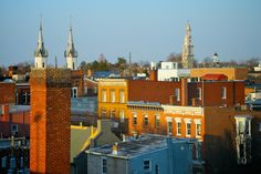 Rooftops of Frederick from Citizen's Way, March 2014, by Bill Adkins