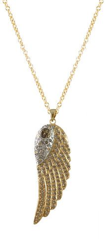 Gold Ravenna Wing Necklace – Tat2 Designs