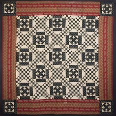 Love this Double T quilt! Circa 1870. York County, Pennsylvania origin. 94 inches square.