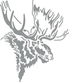 Glass etching stencils of North American Mammals, page 1 of 1 Moose Silhouette, Animal Silhouette, Silhouette America, Silhouette Files, Silhouette Cameo, Wood Burning Stencils, Wood Burning Patterns, Animal Stencil, Stencil Art