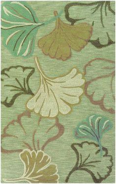 Sphinx by Oriental Weavers Lotus 85407 Green Botanical & Floral Rug