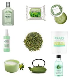 """My green tea beauty routine"" by karsyngrace ❤ liked on Polyvore featuring beauty, L'Occitane, Mario Badescu Skin Care, Buddy Scrub, Pier 1 Imports, Fuji and GreenTeaBeauty"