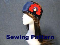 velvet wide headband sewing pattern pdf, velvet ear warmer pattern, velvet headwrap sewing, velvet yoga headband pattern, velvet hair wrap by Bagsandclothingstore on Etsy