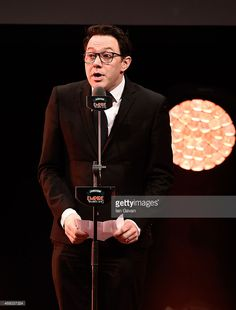 Reece Shearsmith collects the Best Horror Award for 'The Babadook' on... Nieuwsfoto's | Getty Images