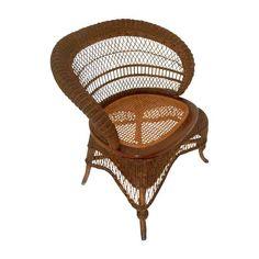 Image of Heywood Wakefield Wicker Chair